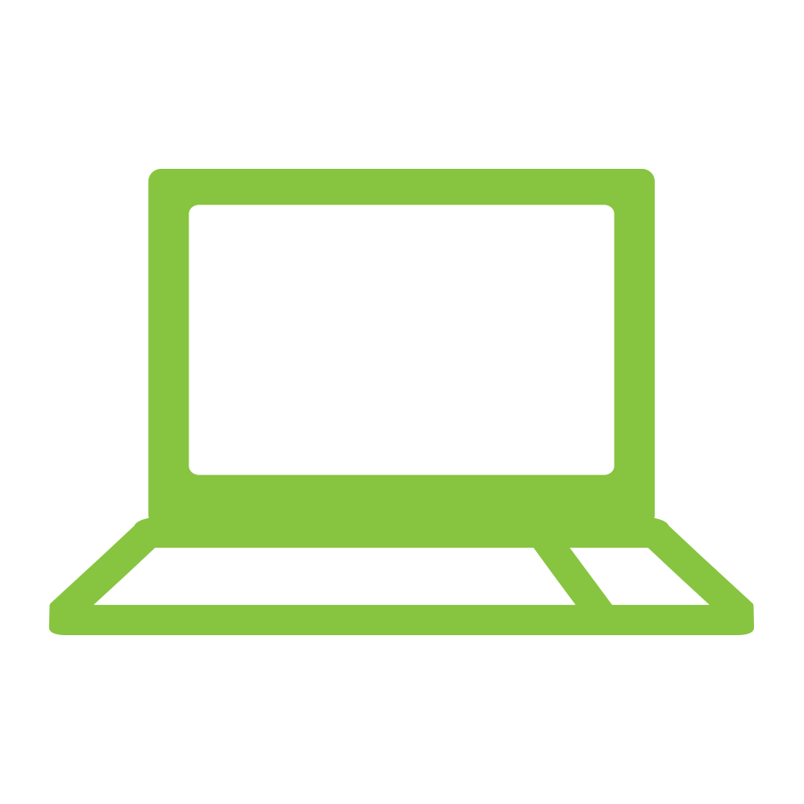 laptop icon - Use our form to request your link.